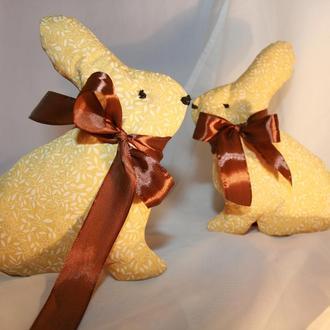 текстильные пасхальные кролики, подарок детям на Пасху, декоративные кролики для интерьера