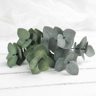 Шпильки для волос с листьями эвкалипта, Свадебные шпильки в стиле рустик