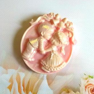 Сувенирное свадебное мыло в коробочке, бонбоньерки