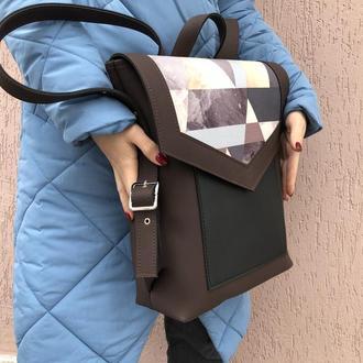 Рюкзак «Geometric brown »