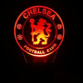 ФК Челси, ночник светильник лампа, подарок футбольному болельщику, спортсмену, футболисту
