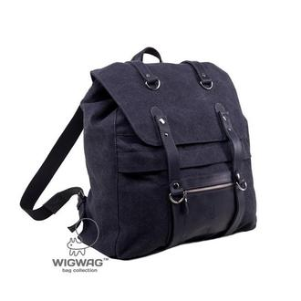 Мужской рюкзак из канваса и натуральной кожи, темно-серый