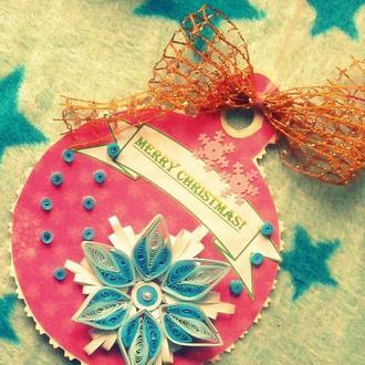 Різдвяна листівка - ялинкова прикраса