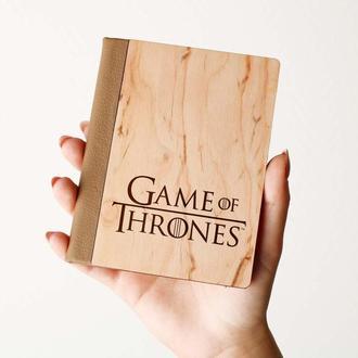 """Деревяная обложка на паспорт """"Game of Thrones"""", паспортная обложка, обложка для паспорта с дерева"""