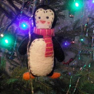 Романтичный пингвин из фетра