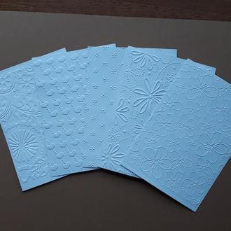 Набор тисненной бумаги для творчества, скрапбукинга