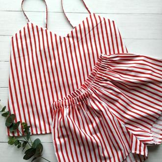 Женская пижама в полоску
