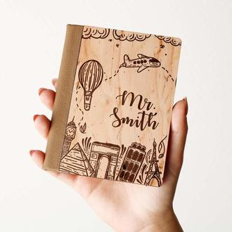 Деревяная обложка на паспорт, паспортная обложка, обложка для паспорта с дерева