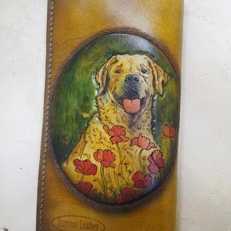 Кошелек с собаками, женский тревел кошелёк, портрет домашнего любимца на кошельке