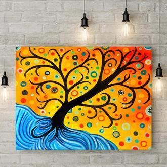 Сказочное дерево (картина масло/холст) 50х60х2 см