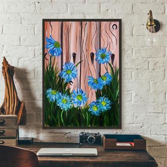 Летние цветы (картина масло/холст) 50х70х2 см