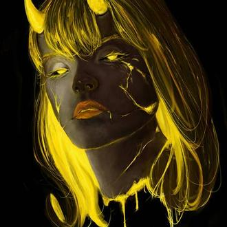 Арт, рисунок - двухцветный (цифровой, на заказ)