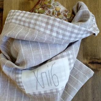 Льняной мешочек для хлеба №1
