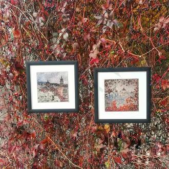 Осень золота во Львове комплект из 2 картин