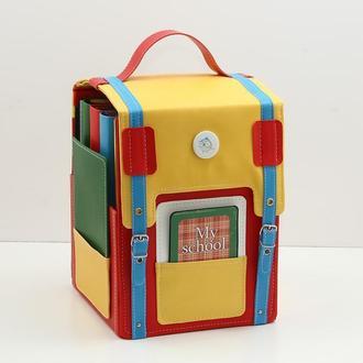 Школьный альбом-рюкзак для фотографий начальная школа