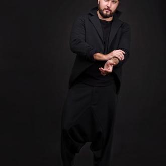 Мужской черный пиджак UV
