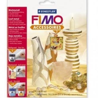 Металлическая фольга,FIMO многоцветие, 7 листов,14*14см , STAEDTLER