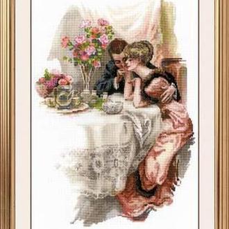 """Набір для вишивання хрестом «""""Перший вечір у власному домі"""" за мотивами картини Х. Фішера"""