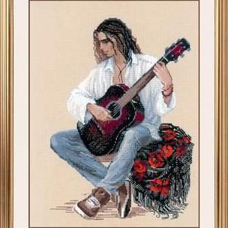 Набір для вишивання хрестом «Гітарист»