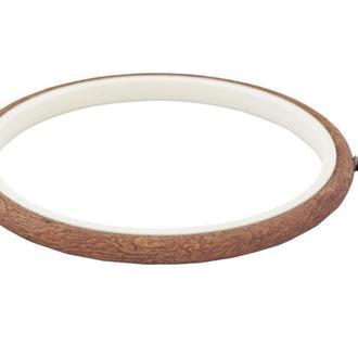Пяльцы-рамка Nurge круглые каучуковые с подвесом, высота обода 8 мм, диаметр 170 мм