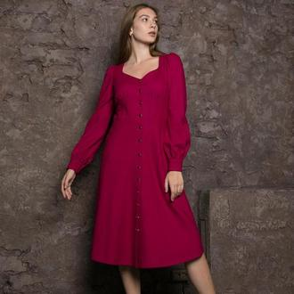 Дизайнерское романтичное повседневное платье