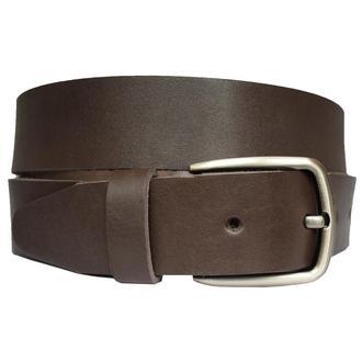 Continent коричневый кожаный мужской ремень пояс для джинсов кожанный ремінь шкіряний