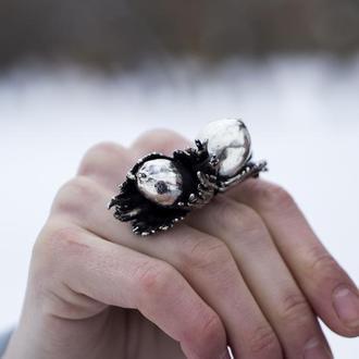 """Серебряное кольцо """"Лесной орех"""""""