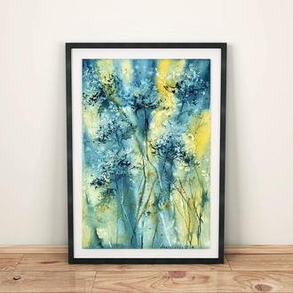 Картина акварелью, абстракция