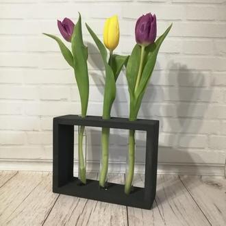 Подставка с колбами (пробирками) для цветов