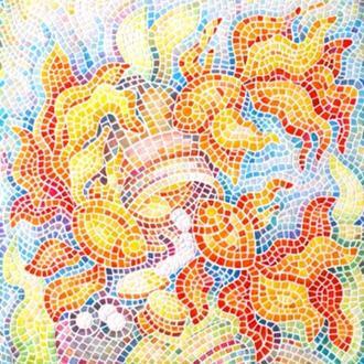 Картина мозаика Картина с рыбами Рыба картина Мозаичное панно Заказать картину Золотая рыбка картина