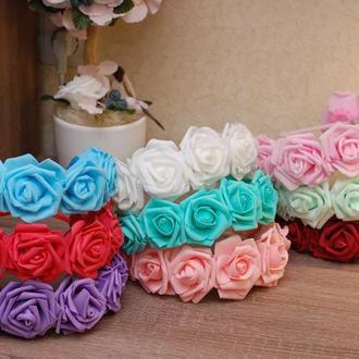 Обручи ободки венки с большими цветами в ассортименте