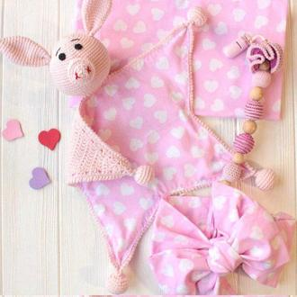 """Подарочный baby box для новорожденного """"Розовая свинка"""""""