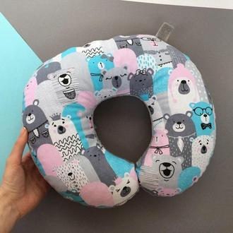 Дорожная подушка - медведи, подушка для путешествий - медведь, подушка для шеи Киев