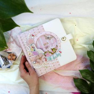 Фотоальбом для новорожденного , альбом первого года жизни