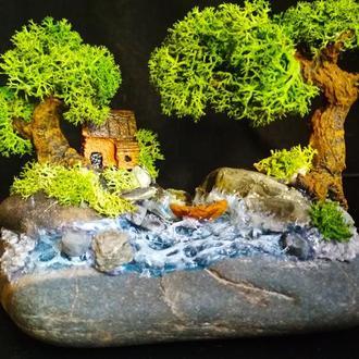 Мини-ландшафт «Дом бога Эбису»
