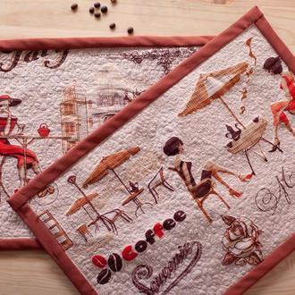 Салфетки под тарелки Парижанка Ланчмат Подарок на день рождения Подарок подруге Подарок маме