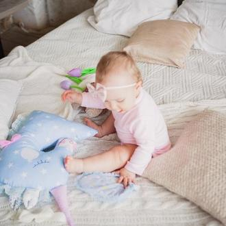 детские игрушки подарок девочке подушка обнимашка единорог подушка сплюшка подарки новорожденным