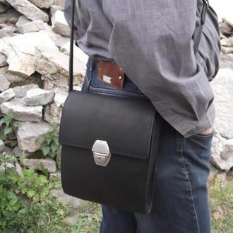 сумка кожаная мужская. стильная сумка