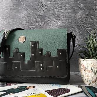 Шкіряна жіноча сумка City Кожаная женская сумка кросбоди
