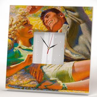 """Настенные часы """"Любовь"""" винтаж пинап"""