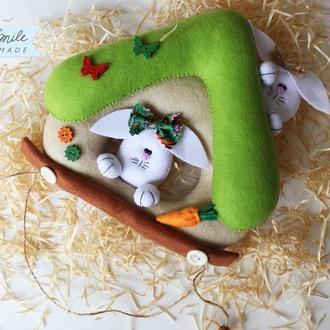 Пасхальный декор - Панно из фетра