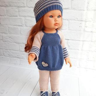 Одежда на куклу Антонио Хуан 45 см, комплект туника и штанишки+ шапочка