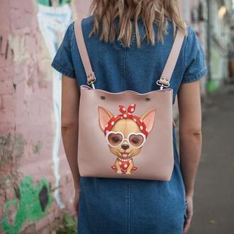 Женский рюкзак трансформер с рисунком, подарок девушке | Bagpack Holysaints