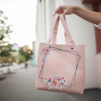 Женский рюкзак с рисунком на коже | Bagpack Holysaints