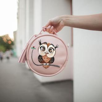Круглая женская сумка с вашим рисунком | Limu Holysaints