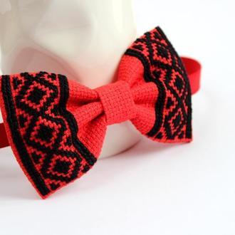 Вишита краватка-метелик