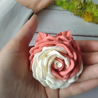 Роза на резинке из фоамирана, Цветы на резинке, резинка для волос