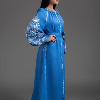 """Вишита льняна сукня """"Дерево життя"""" 00113"""