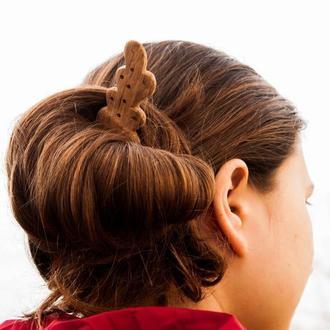Для волос Шпилька. Из дерева Шпилька