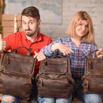 Городской рюкзак, кожаный женский рюкзак, мужской рюкзак, подарок для парней, для девушек
